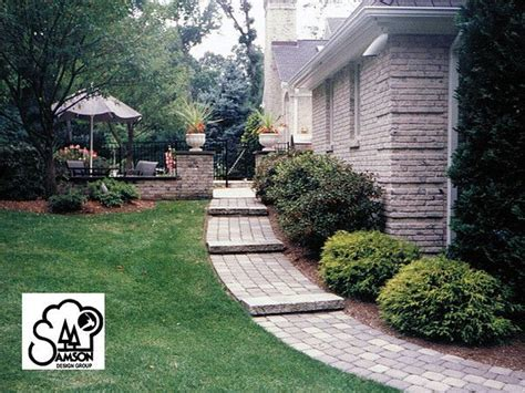 Nice Backyard Paver Walkway On A Slope Nice Landscaping Ideas Too
