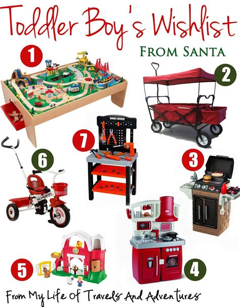 ideas for 2 year old toddler boy christmas gifts my of travels and adventures toddler boy s wish list