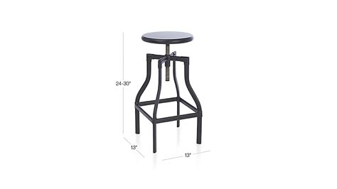 Crate And Barrel Turner Stool by Turner Black Adjustable Backless Bar Stool Crate And Barrel