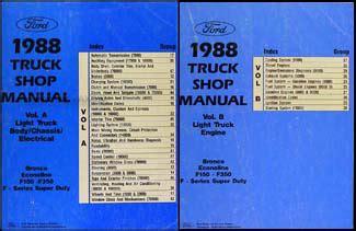 1988 Ford Truck Repair Shop Manual Set F150 F250 F350