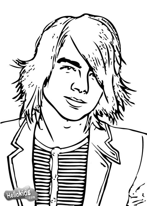 Brothers Coloring Page jonas brothers coloring pages
