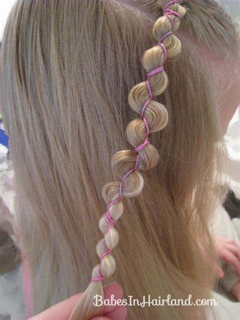rubber band hairstyles rubber band wraps flipped braids babes in hairland