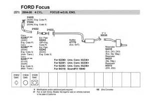Ford Focus Exhaust System Diagram 2000 Ford Focus Exhaust System Diagram Auto Parts Diagrams