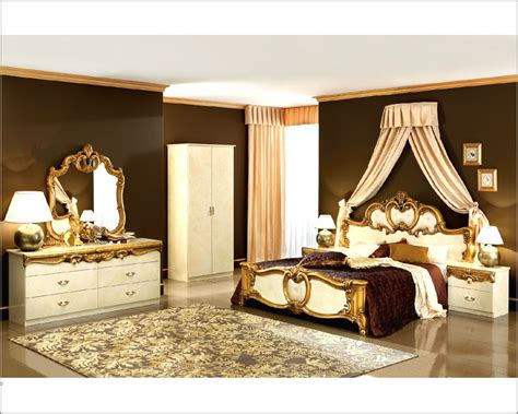 baroque bedroom set bedroom set gold baroque classic style made in italy 33b421