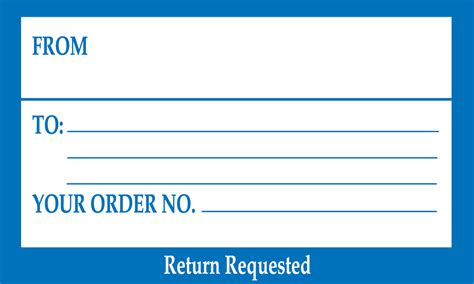 Shipping Label With Return Address Template return label sle