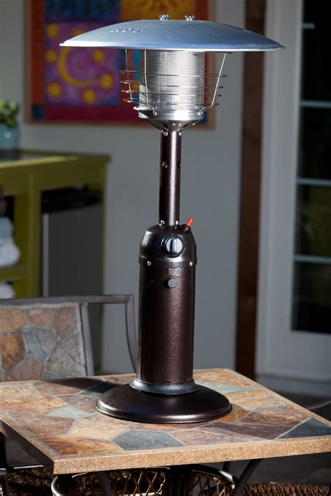 Hammered Bronze Finish Table Top Patio Heater By Fire Sense Sense Table Top Patio Heater