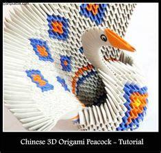 3d origami mini peacock tutorial 3d origami basket origami 3d pinterest cestas
