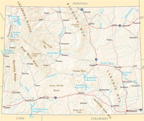 political map of wyoming wyoming map blank political wyoming map with cities