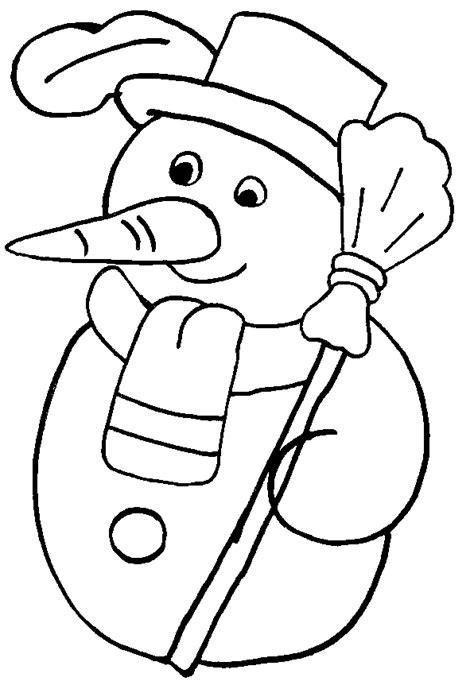 coloriage Un bonhomme de neige gratuit - Noel