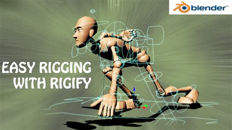 blender 3d tutorial rigging blender tutorial easy rigging with rigify add on youtube