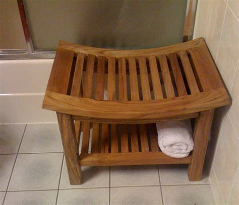 bench bath teak bathroom bench 36quot estate teak shower bench from