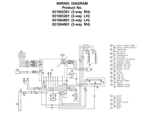 norcold rv refrigerator wiring diagram norcold 12