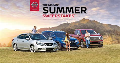 Mail In Entry Sweepstakes - nissan summer sweepstakes 2017
