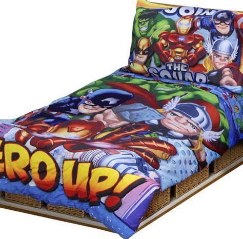 marvel super hero squad toddler bedding set contemporary