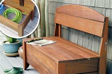 how to build an outdoor storage bench how to build a bench with hidden storage this old house