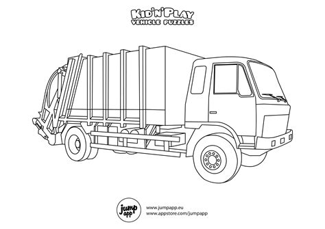 garbage truck coloring page az coloring pages