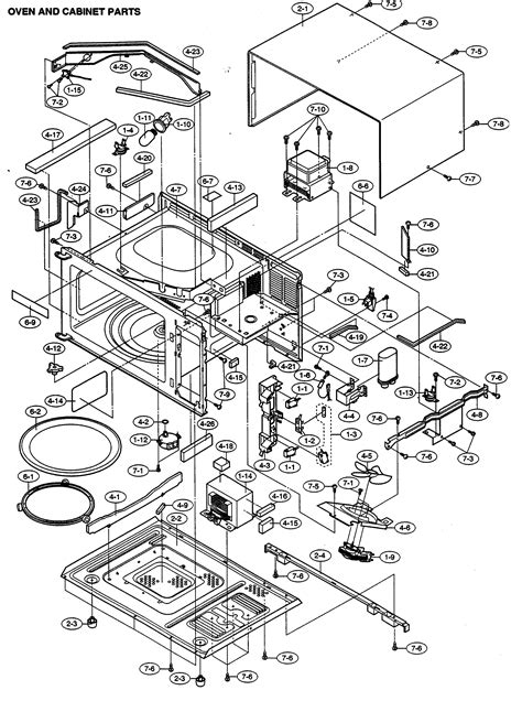 sharp microwave parts diagram sharp microwave parts model r330ew sears partsdirect