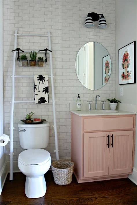 our powder room makeover from damask to emily powder bathroom makeover our fifth house