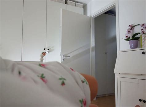 kleiderschrank weiß 5 türig ikea schlafzimmer modern