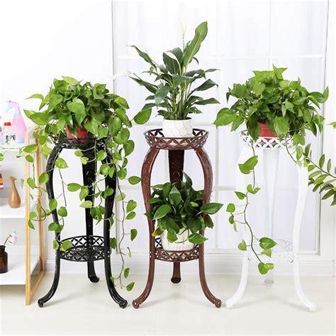 retro flower stand chic indoor garden metal plant holder