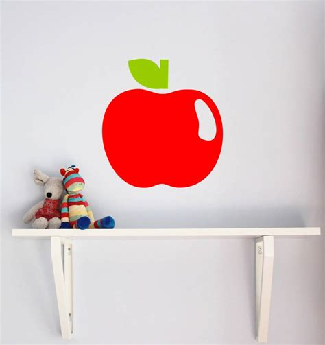 apple wall stickers apple wall sticker by chip notonthehighstreet