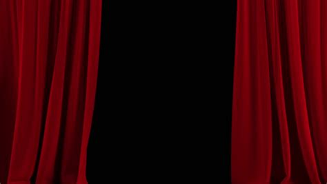 open stage curtains opening and closing red curtain with spotlights stock