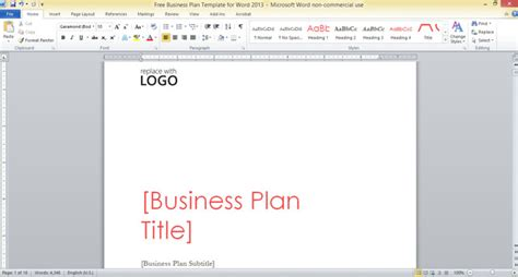 business plan template free word free business plan template for word 2013