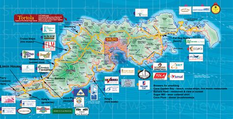 st bvi map one day in tortola and dinner spots tortola forum