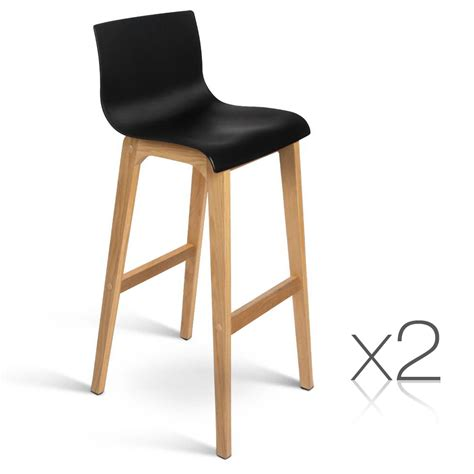 High Back Bar Stool Chairs by 2 Oak Wood Bar Stools Wooden Dining Chairs Kitchen High