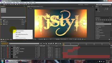 tutorial after effect download adobe after effects tutorials cs6 intro
