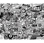 Stickerbomb Black And White