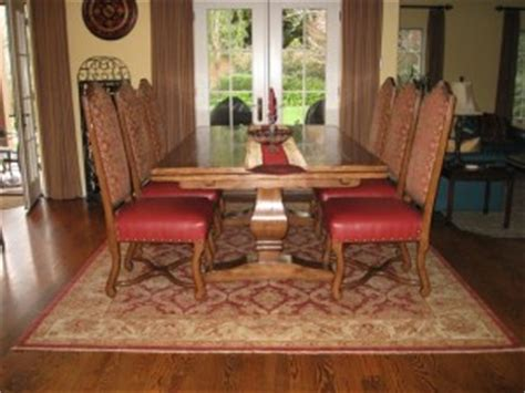 dining room rugs size table what size rug to use for your dining room