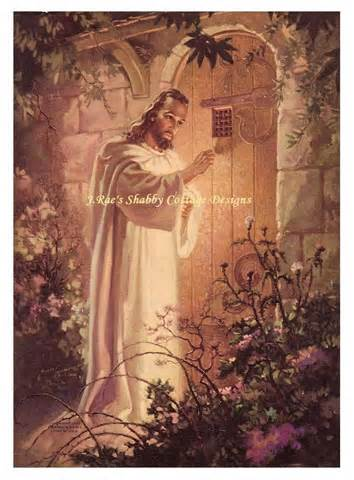 Free Picture Of Jesus Knocking At The Door by Jesus Knocking At Hearts Door Fabric Block 5x7 Ebay
