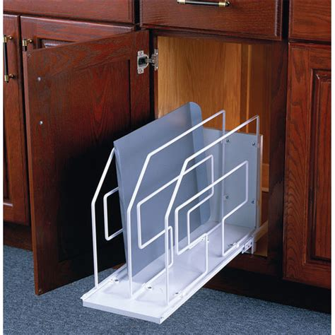 Tray Dividers For Kitchen Cabinets by Roll Out Tray Kitchen Cabinet Dividers By Knape Vogt