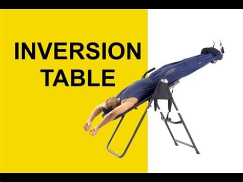 inversion table spinal decompression therapy for