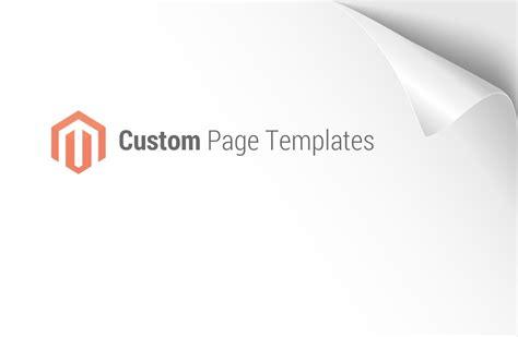 magento custom page templates