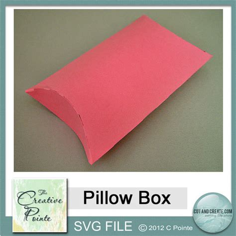 Pillow File the creative pointe s pillow box svg freebie
