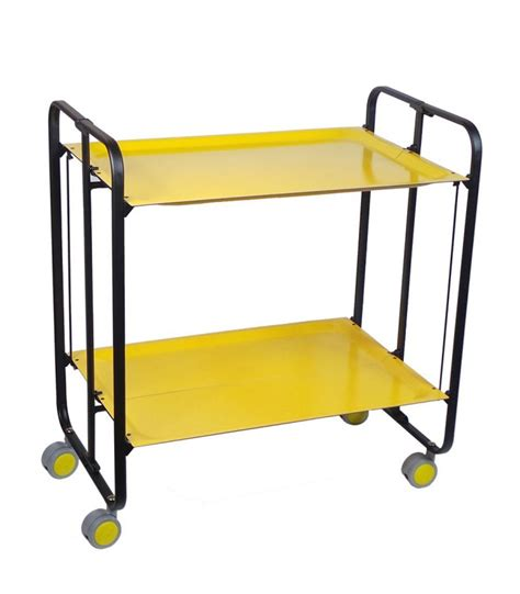 table pliante aluminium rolling and folding yellow table and black chassis 3 wadiga