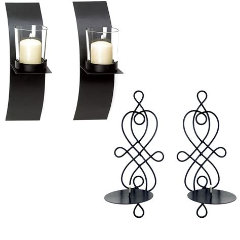 Modern Candle Wall Sconces by Modern Candle Holder Wall Sconce Display Black Wire