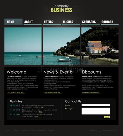 Professional Website Template Royalty Free Stock Image Image 12579966 Copyright Free Website Templates