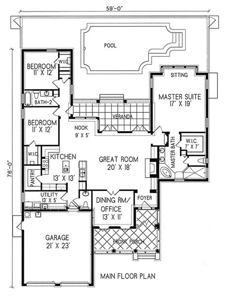 plan 16386md courtyard living with casita courtyard house