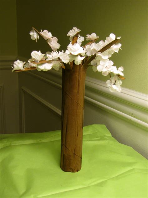 Paper Towel Crafts For Preschoolers - flowering cherry trees craft flowering cherry tree tree