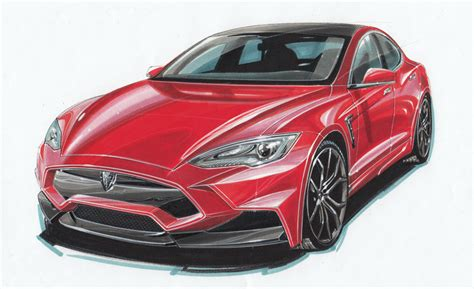 Tesla Drawings Larte Design Is Drawing Your Attention With A Sketch Of