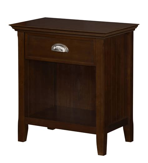 bedside table amazon amazon com simpli home acadian solid wood bedside table