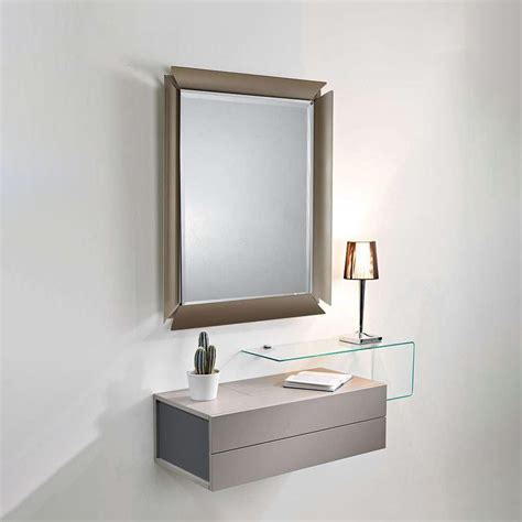mobiletto per ingresso moderno due mobile ingresso con 2 cassetti specchio e mensola