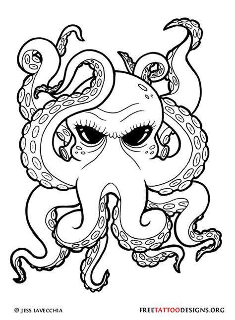 design outline meaning 66 octopus tattoo designs