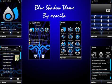 themes nokia blu nokia 5800 theme blue shadow daily mobile