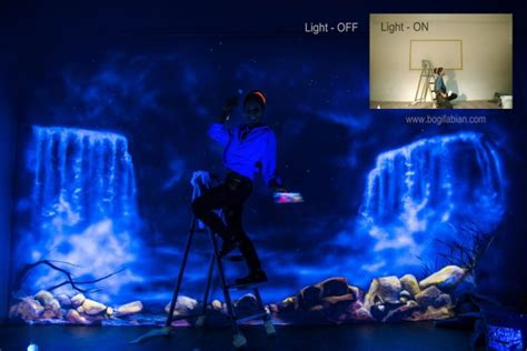 glow in the dark bedroom glowing murals turn your room into a dreamy world when the