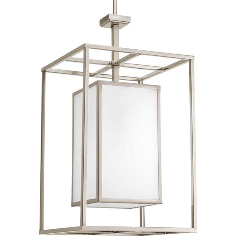 home depot lights exchange progress lighting collection 1 light brushed nickel