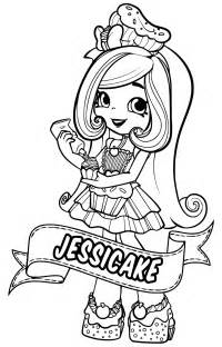shopkins doll jessicake coloring coloring pages